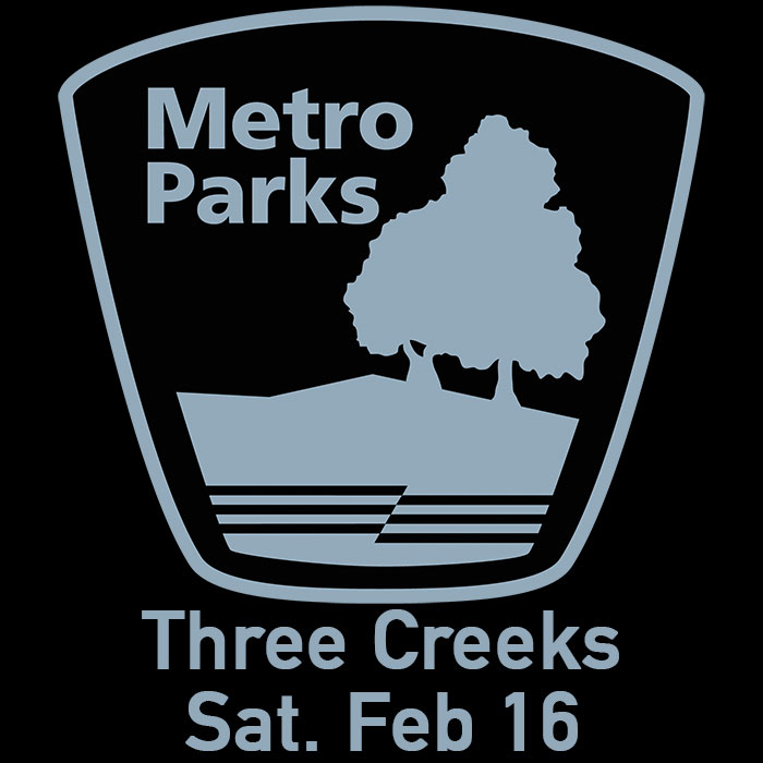 2019 Hikes of Giving at Three Creeks Metro Park on Saturday, February 17th starting at 10:00 a.m.