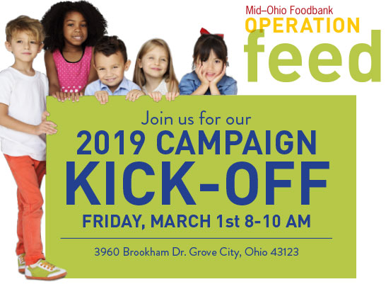 2019 Operation Feed Kick-Off campaign will be at MOF on March 1st from 8am - 10am.